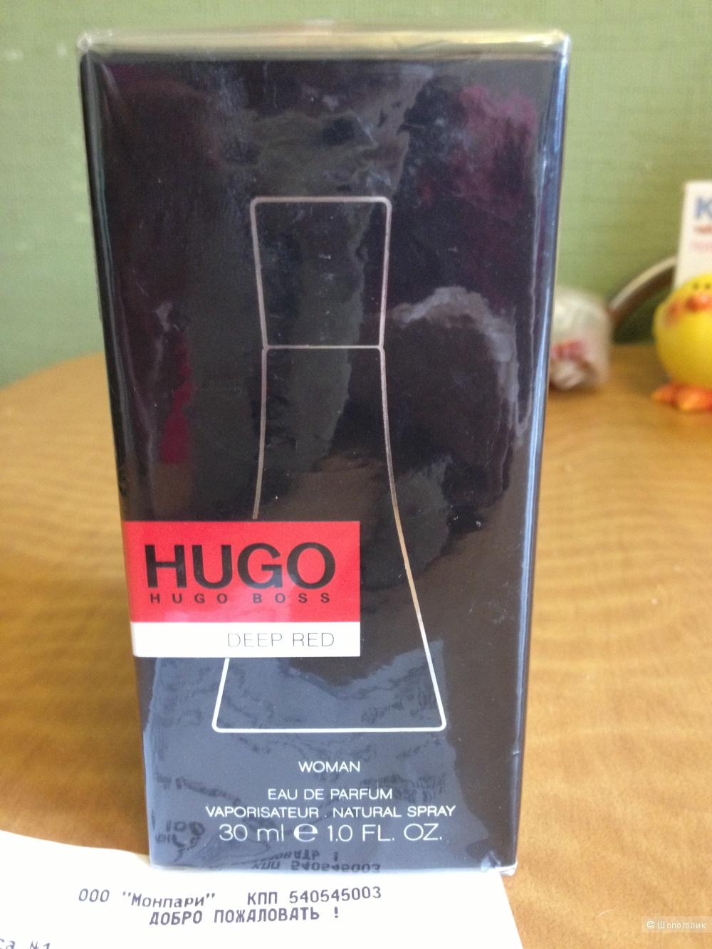Deep Red Hugo Boss для женщин, парфюмерная вода, 30 мл в слюде, редкость