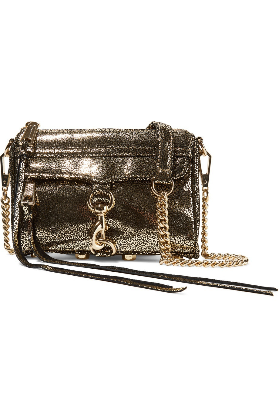 REBECCA MINKOFF Micro Mac python-effect suede shoulder bag