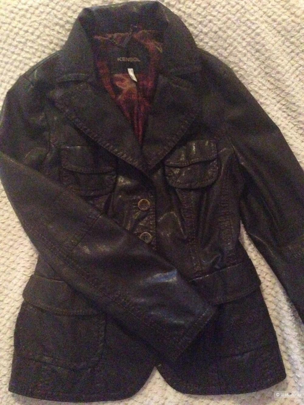Женская куртка пиджак экокожа, 50 размер