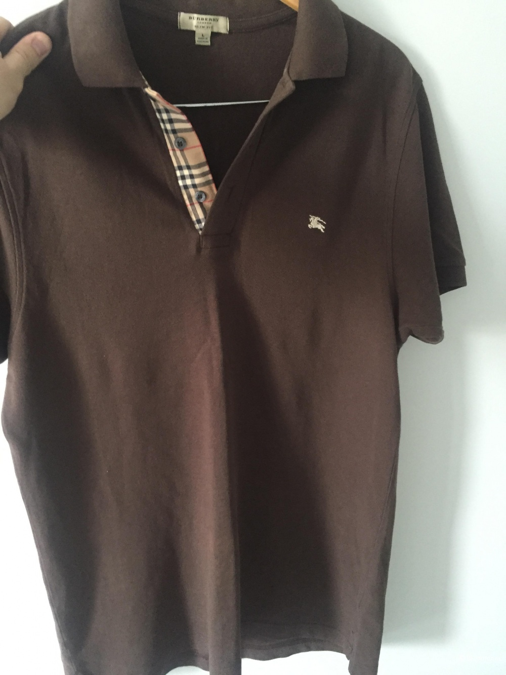 Burberry London Polo, brown color, size L