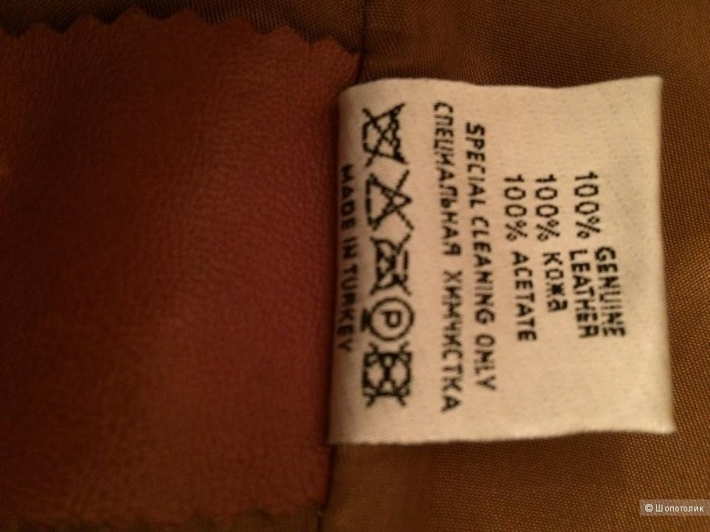 Продаю б/у кожаное пальто Neohit размер 40-42