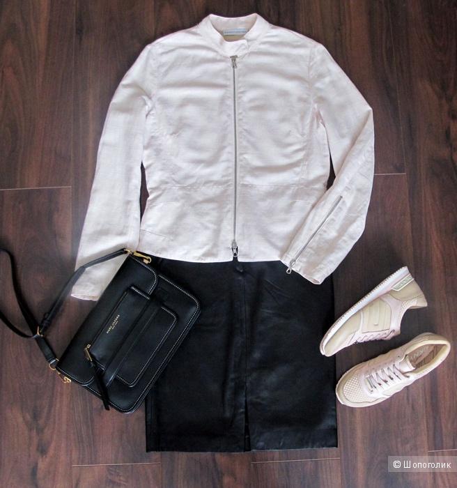Нежно-розовая легкая куртка Brunello Cucinelli 44-46