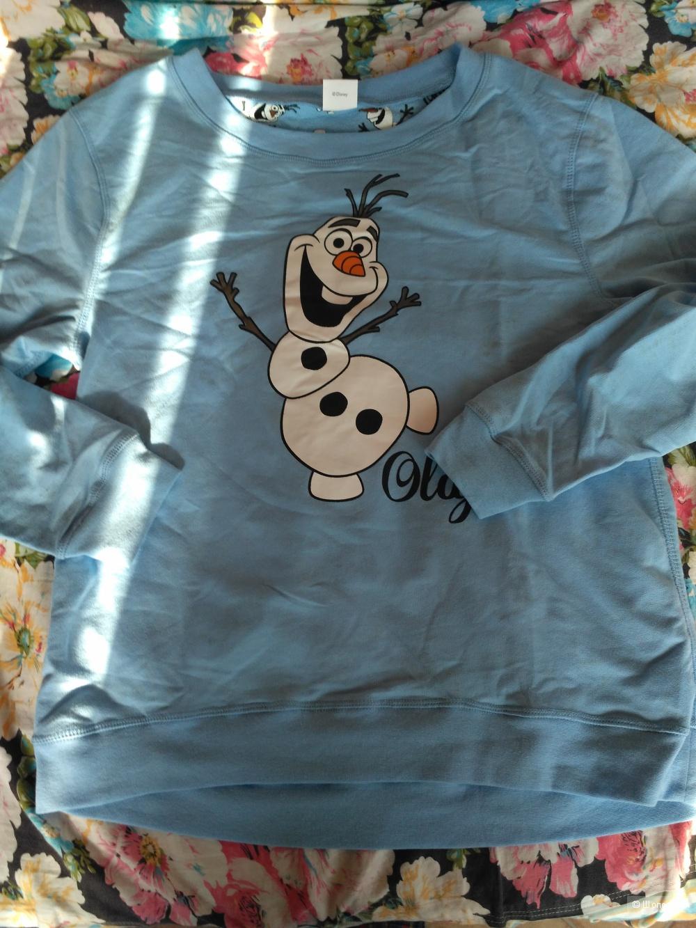 Свитшот Disney с веселым снеговиком. 46-48 и 52 размеры