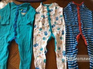 Три пижамы  mother care 9-12 m
