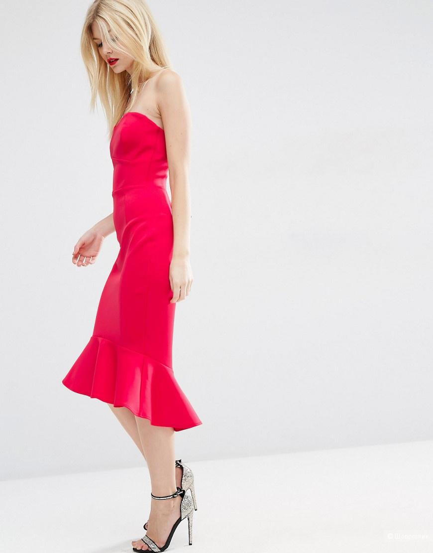 Красное Платье бандо ASOS