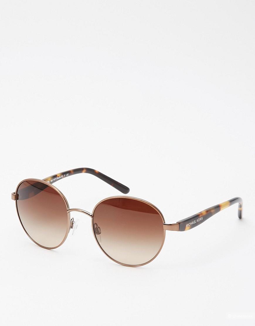 Солнцезащитные круглые очки Michael Kors Metal Round Sunglasses - Tort / No Size. Оригинал 100%.