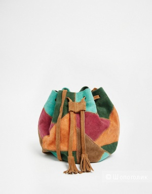 Замшевая сумка в стиле пэтчворк Park Lane