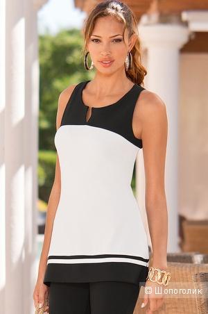 Черно-белая блузка