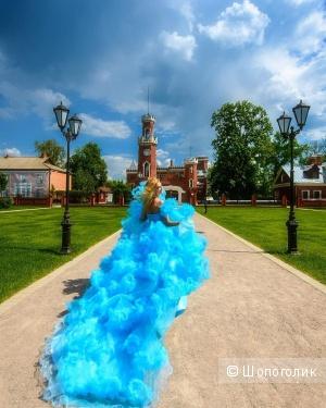 Платье облако небесно-голубого цвета