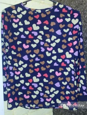 Блуза с сердечками