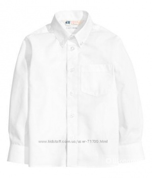 Белая рубашка H&M, рост 170