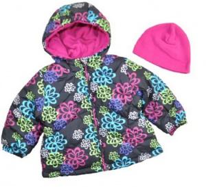 Новая курточка с капюшоном (шапочка в комплекте) на девочку