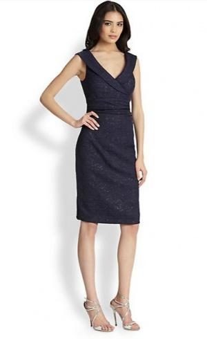 Kay Unger шикарное платье с люриксом для офиса р.44 Новое.Оригинал