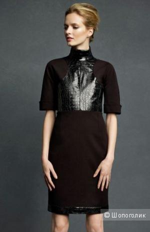 Изумительное платье со вставками под кожу крокодила от дизайнера CHANEL Karl Lagerfeld р.44 Новое.Оригинал