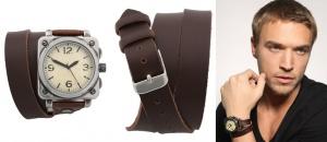 Часы с оборачивающимся вокруг запястья кожаным ремешком ASOS