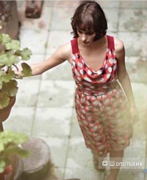 Шелковое платье от американских дизайнеров из Anthropologie на 40-42 рос.