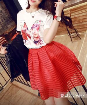 Новая красная юбка