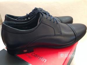 Шикарные мужские кожаные ботинки от Pierre Cardin Новые с логотипом в каблуке р.42 и 43 за 3800 р.