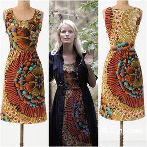 Шелковое платье от американских дизайнеров из Anthropologie  на 42 рос.