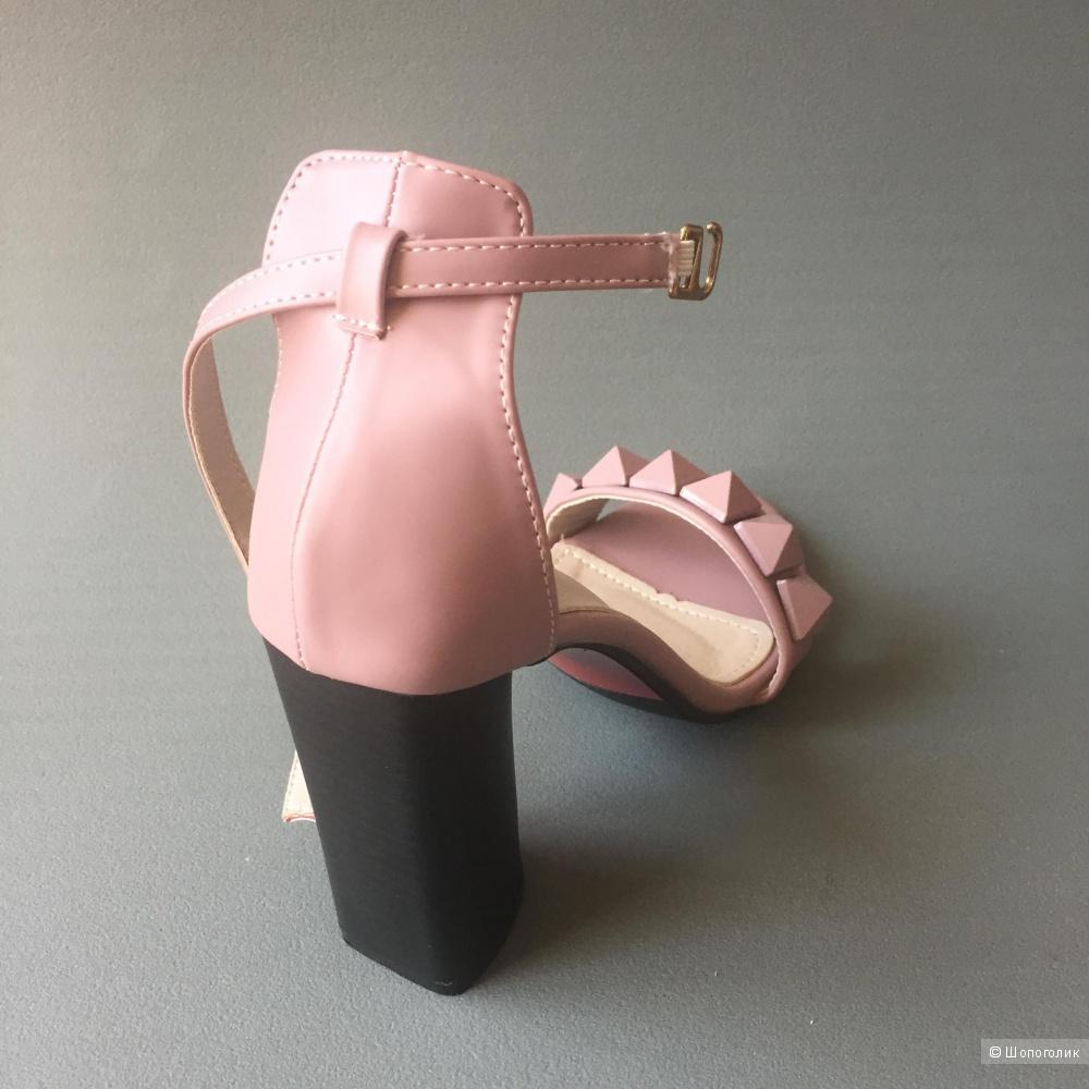 Босоножки новые розовые, р-р 36