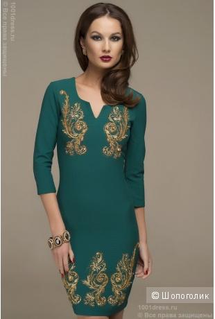 6f1d531997e Новое изумрудное платье с шитьем и стразами XS 1001dress