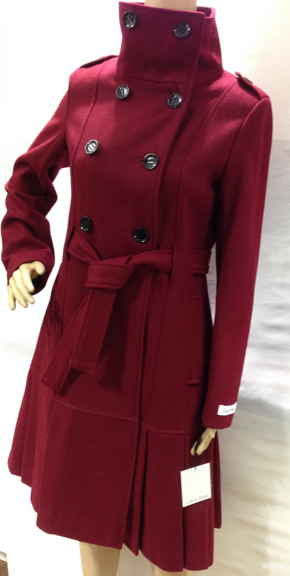 Calvin Klein красивое дизайнерское пальто р.44 Новое.Оригинал