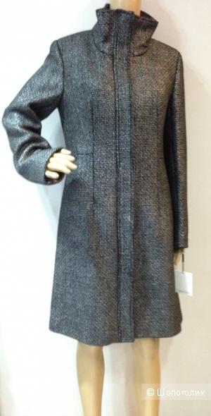 Calvin Klein стильное дизайнерское пальто с металлическим мерцанием  р.44 Новое.Оригинал