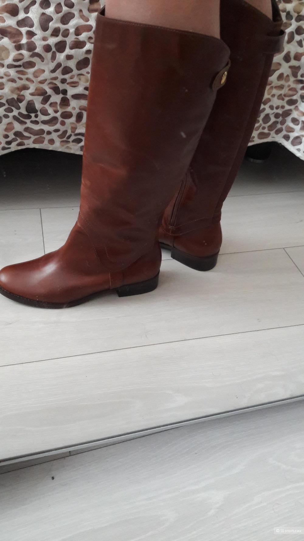 Жокейские сапоги Steven Steve Madden Sady W Round Toe Leather Knee High Boot