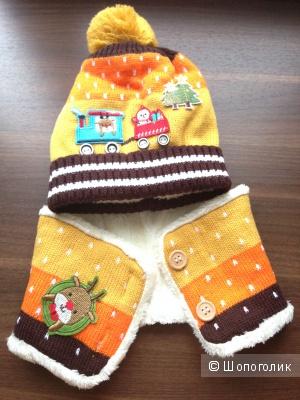 Зимний детский набор шапка и шарф Новый