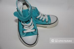 Кеды ярко-голубого цвета H&M размер 24