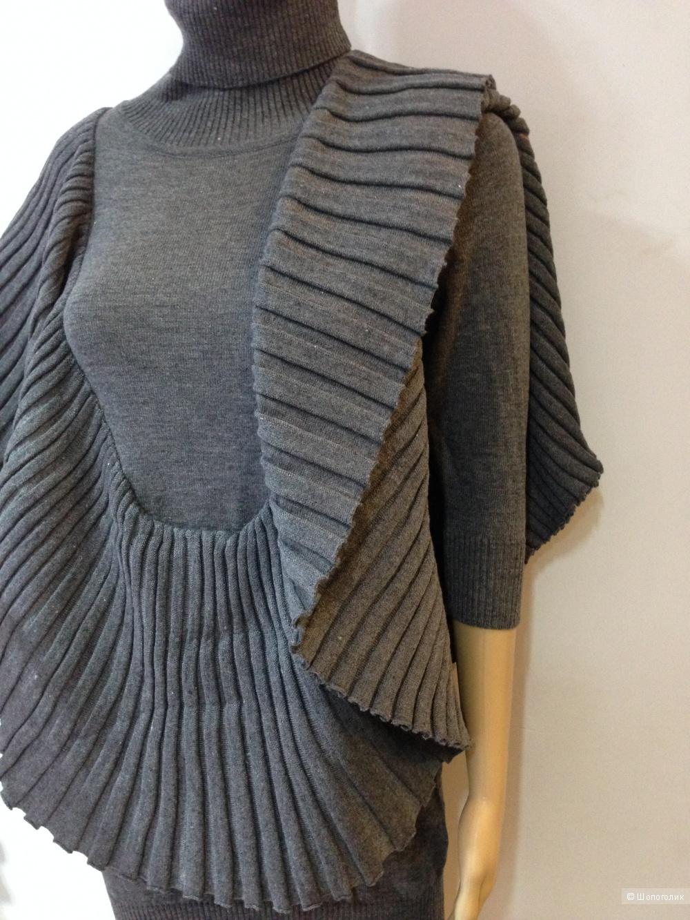 GRACIA платье-свитер с гофре под узкие брючки или лосины р.44