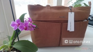 Calvin Klein новая кожаная сумка