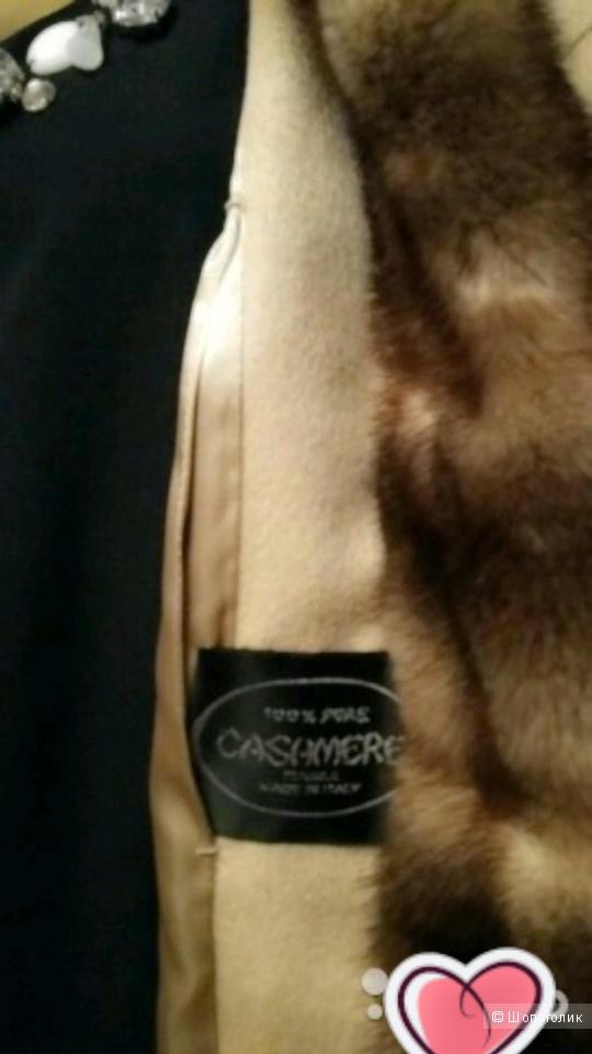 Новое пальто класса люкс. Италия. Кашемир. Норка