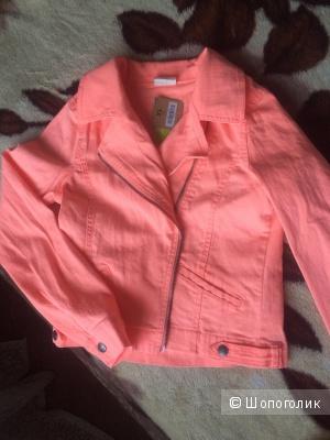Очень яркая новая джинсовая курточка из Америки