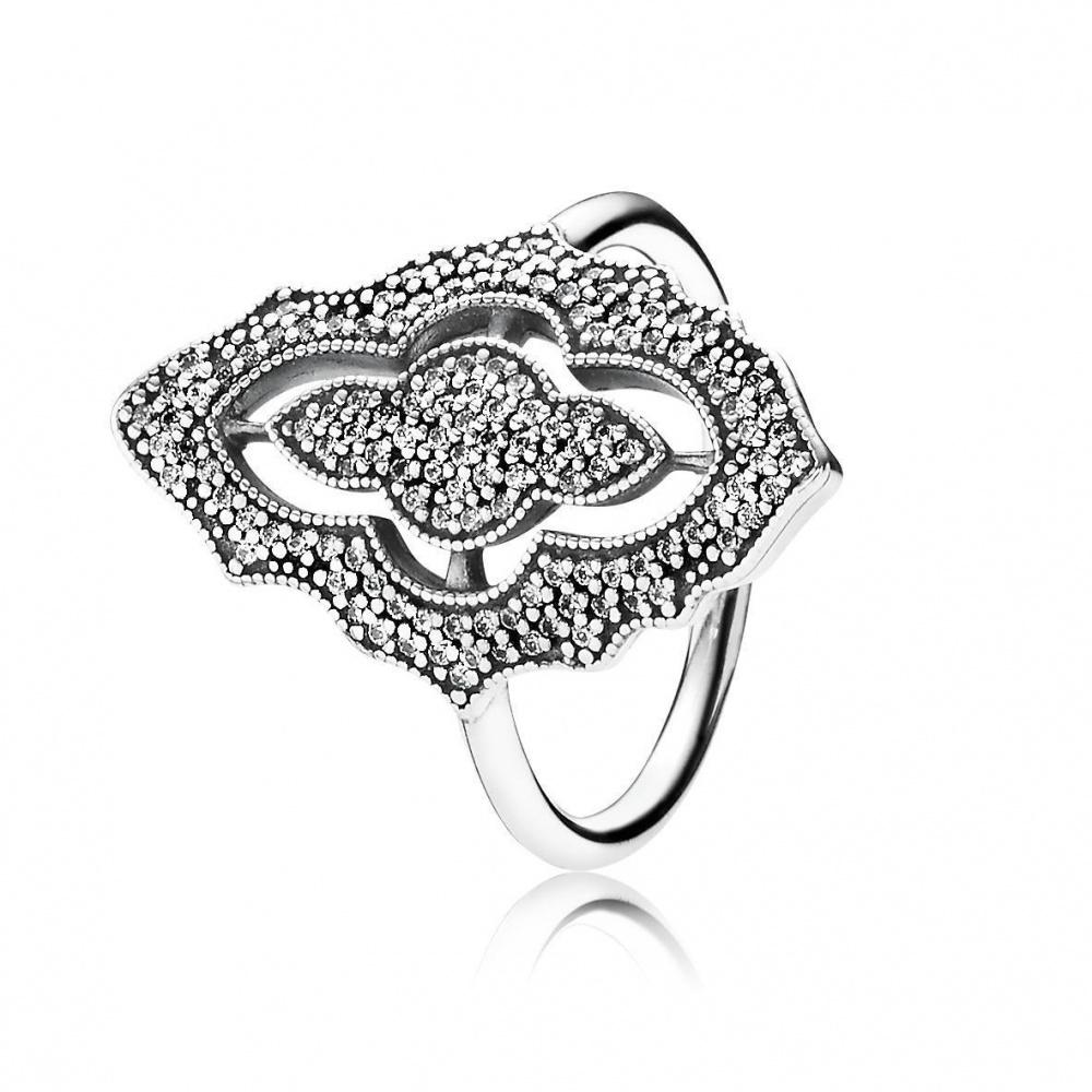 """Кольцо PANDORA  """"Элегантное кружево """" размер 17 (54) новое"""
