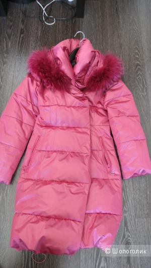 Пуховик женский gold ziss пальто розовый фуксия 44-46