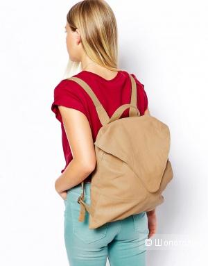 Новый кожаный рюкзак Asos цвета нюд