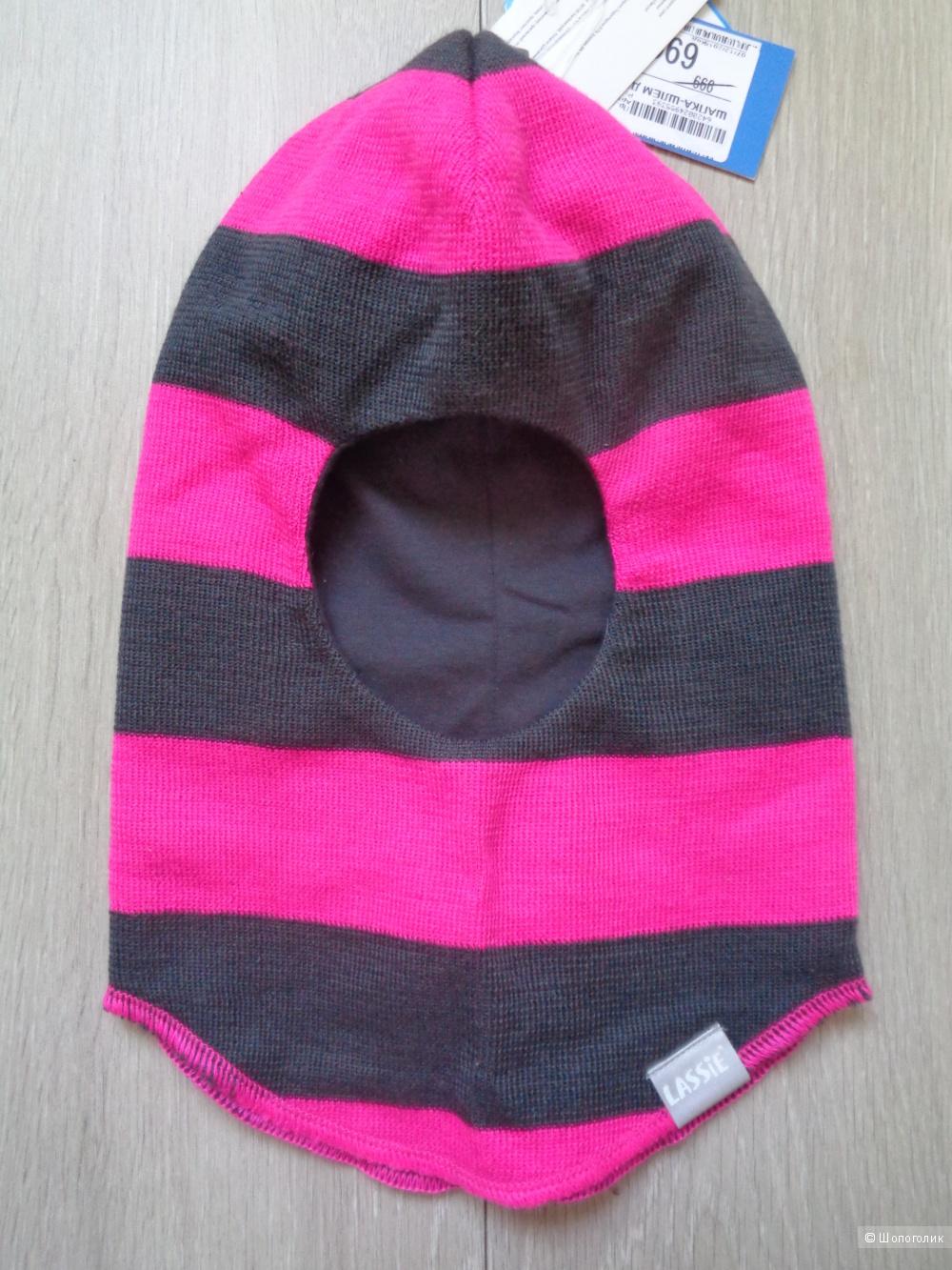 Новая шапка-шлем для девочки Lassie 50-52 размер (М)