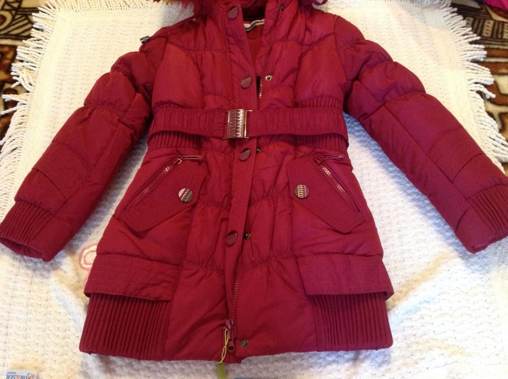 Зимнее новое пальто Donilo оригинал, 134 см.