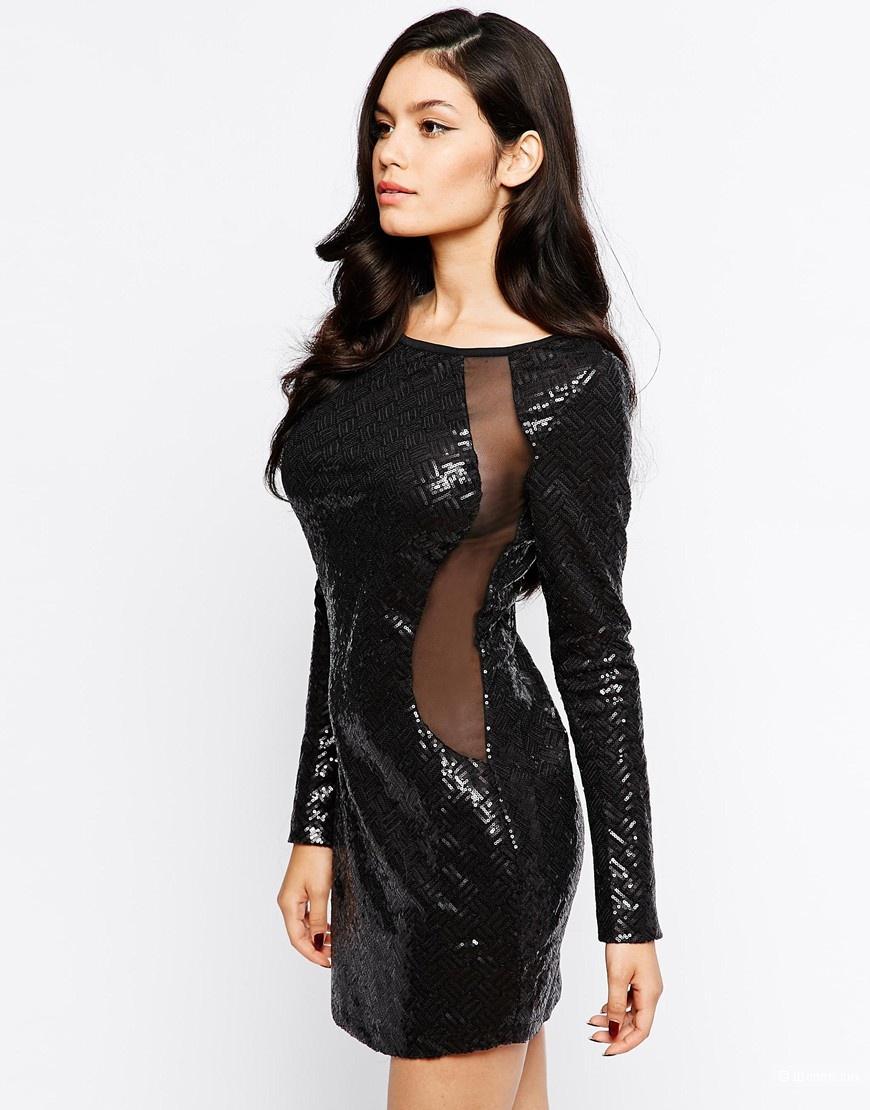 21982754ee5 Маленькое черное платье в пайетках Neon Rose новое размер 12 ( росс.44-46