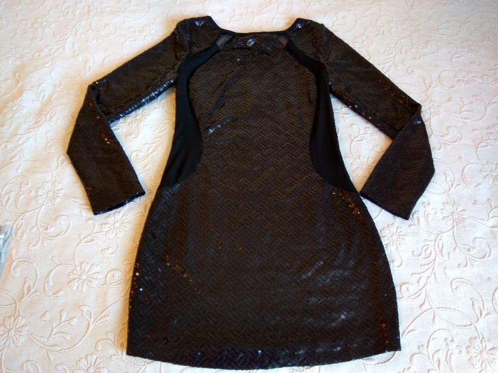 Маленькое черное платье в пайетках Neon Rose новое размер 12 ( росс.44-46)