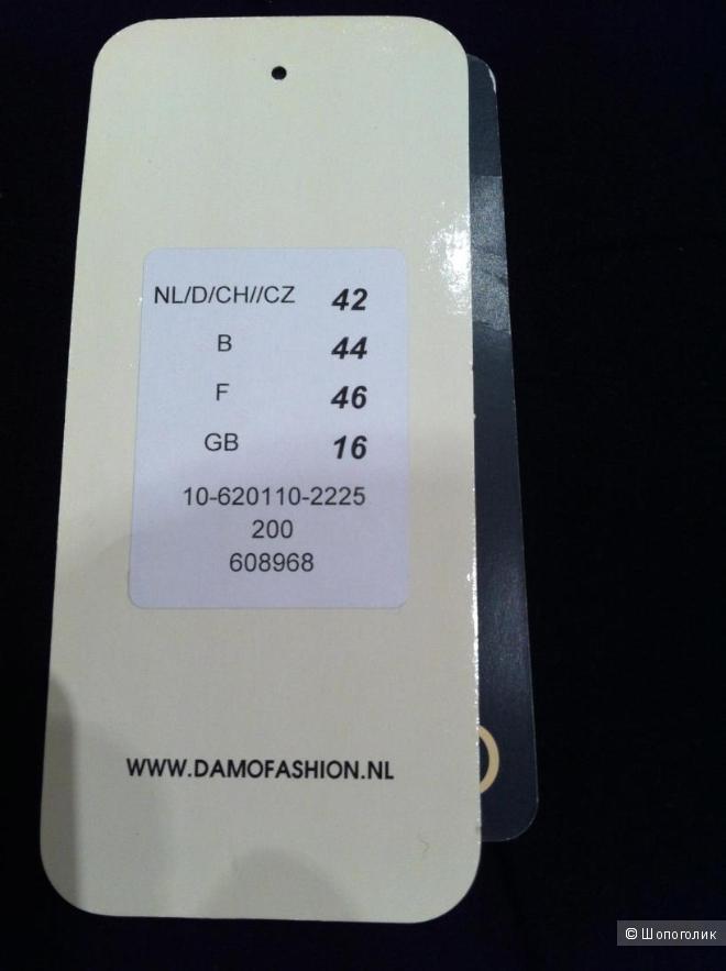 Пальто DAMO. Маркировка 42. Российский размер 50 (42+8). Неполный 52.