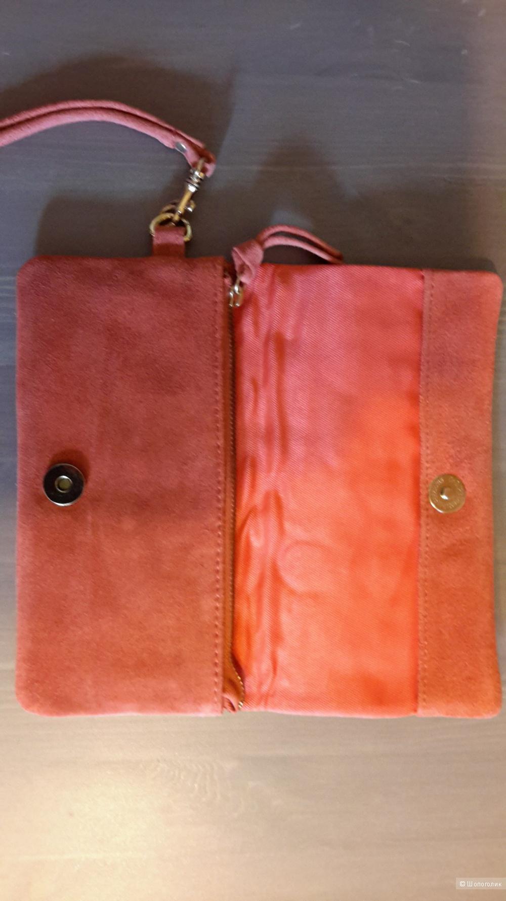Сумка клатч ASOS новая оранжевого цвета