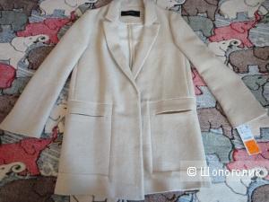 ZARA новое пальто хлопок со льном разм.М (46)