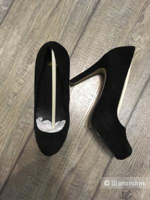 Туфли ASOS черные на каблуке, 35 размер