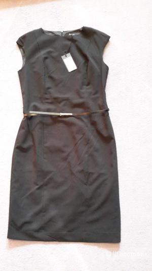 Платье Incity новое размер 50 классическое черное с ремешком