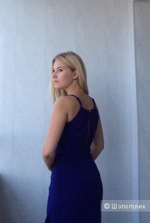 Платье из магазина Reserved насыщенного синего цвета