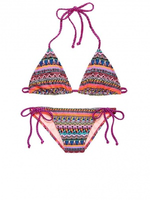 Купальник Victoria's Secret, Teeny triangle top M+Teeny Bikini Bottom M, цвет Warm Geo Zig Zag (8ZC)