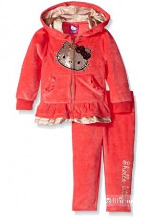 Hello Kitty велюровый костюмчик для маленкой модницы 9-12 мес ОРИГИНАЛ