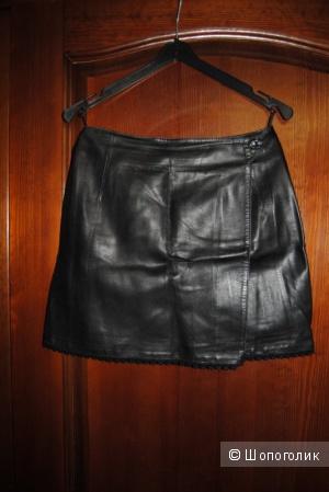 Кожаная юбка 100% кожа